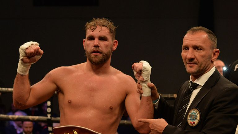 Billy Joe Saunders defeated Artur Akavov in December to retain his WBO strap