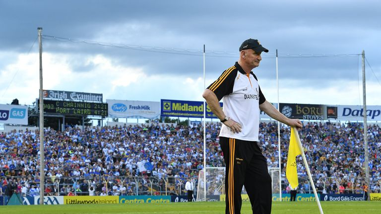 Kilkenny manager Brian Cody near the end of the GAA Hurling All-Ireland Senior Championship Round 2 match