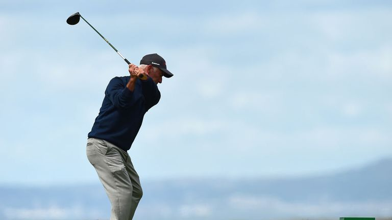 Bernhard Langer takes control of Senior Open Championship in Wales