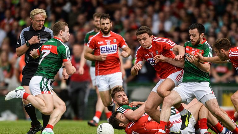Cork and Mayo clash in the Gaelic Grounds