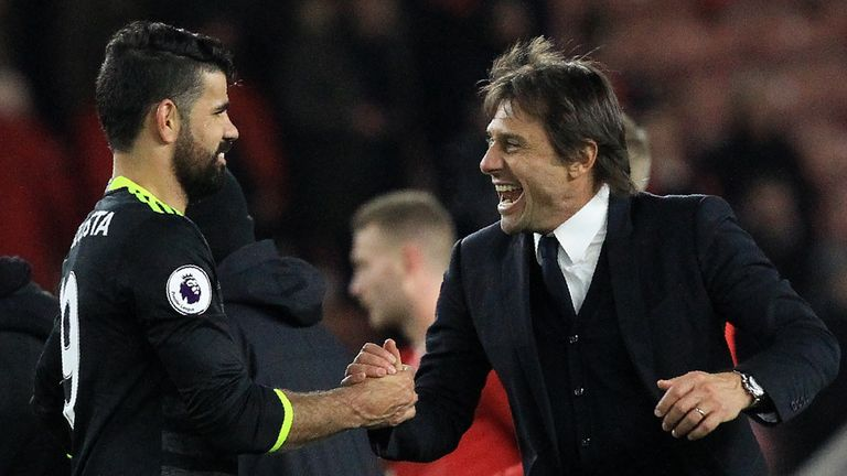 Diego Costa and Antonio Conte's relationship appears to have soured