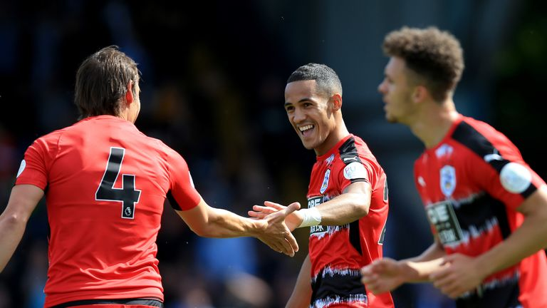 Tom Ince scored the second goal for Huddersfield at Gigg Lane