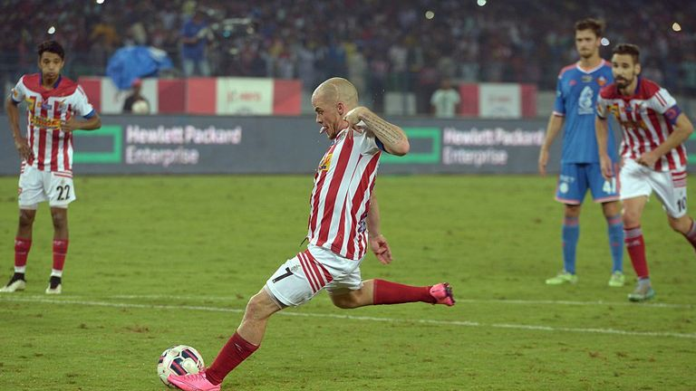 Iain Hume won the Indian Super League with Atletico Kolkata last year