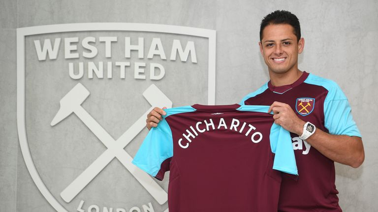 Javier Hernandez has signed for West Ham on a three-year deal