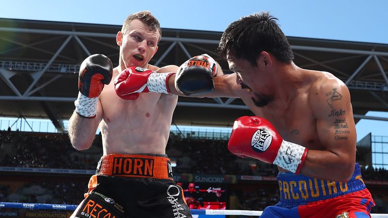 Horn took the WBO title with a stunning upset win over Manny Pacquiao last July