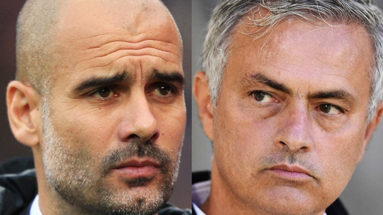 Pep Guardiola's Man City and Jose Mourinho's Man Utd are level at the top of the Premier League