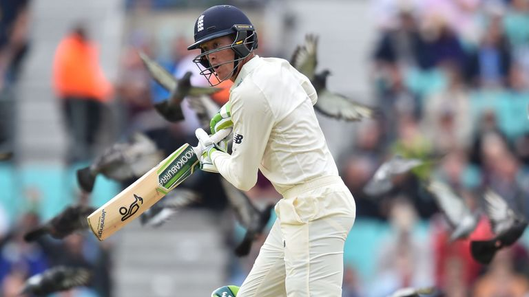 Keaton Jennings survived the opening exchanges of England's second innings