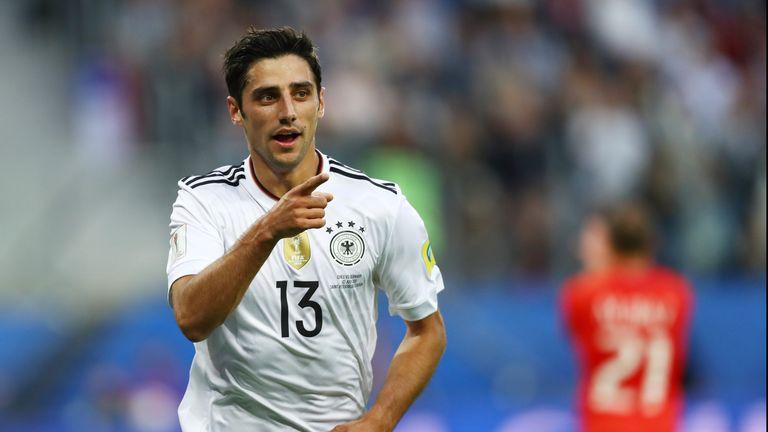 Lars Stindl celebrates putting Germany ahead