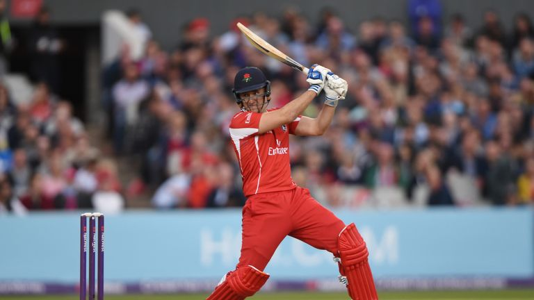 Liam Livingstone fired a quickfire hundred as Lancashire registered their first win