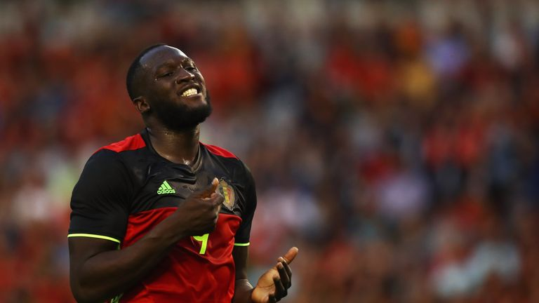 Belgium striker Romelu Lukaku injured his ankle while playing for Manchester United last weekend