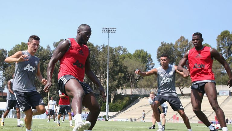 Lukaku has trained with United at UCLA in California
