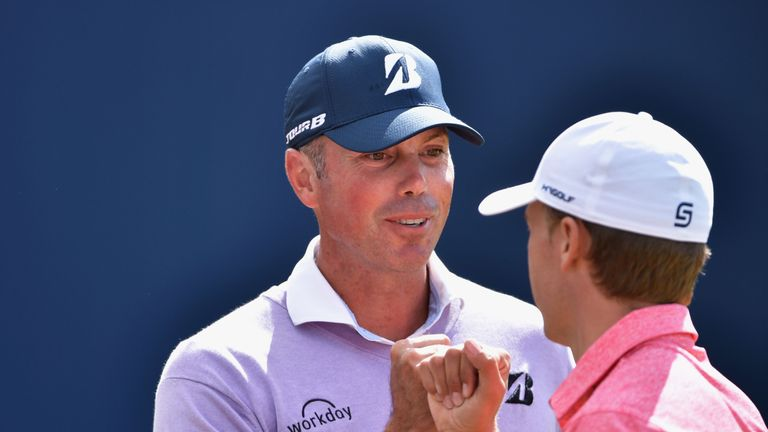 Matt Kuchar will play with Spieth once again in Sunday's final round