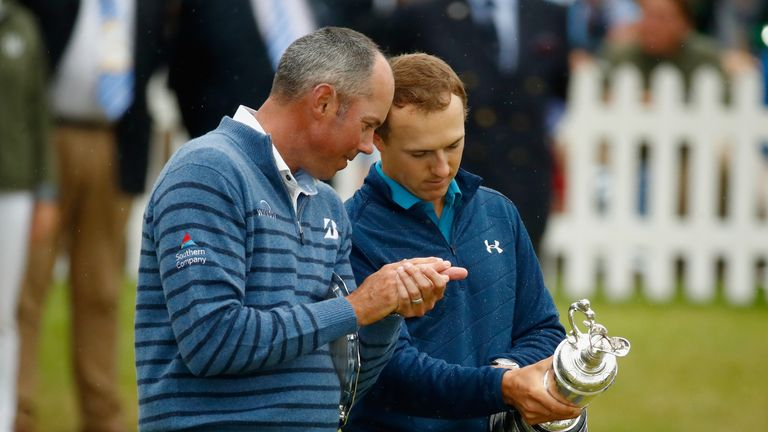 Spieth reflects with his prize and Matt Kuchar