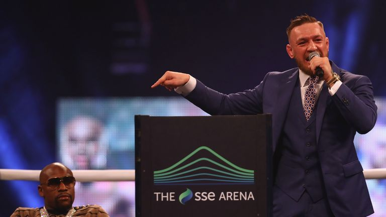 McGregor was in fine form at Wembley Arena