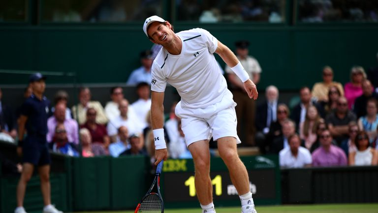 Andy Murray's hopes of a third Wimbledon Grand Slam title were hindered by a recurring hip injury
