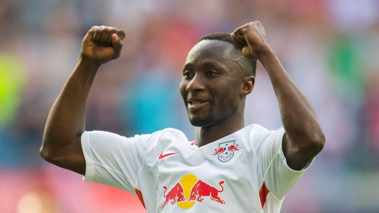Leipzig's Guinean midfielder Naby Keita has been heavily linked with a move to Liverpool