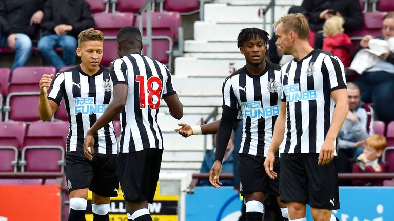 Dwight Gayle scored for Newcastle in a friendly against Hearts
