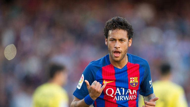 Neymar is attracting strong interest from Ligue 1 giants Paris Saint-Germain