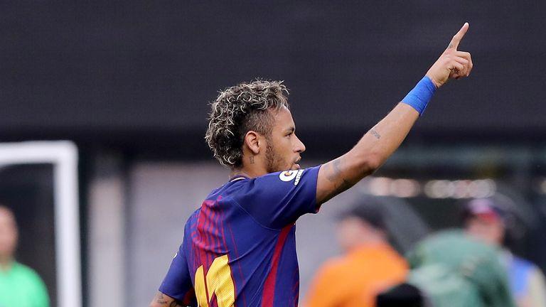Neymar was on target against Juventus over the weekend