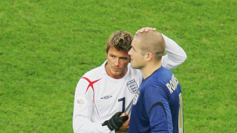 Robinson (right) was part of England's 2006 World Cup side that was knocked out in the quarter finals