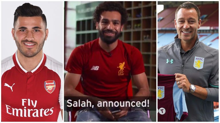 Kolasinac, Salah and Terry have all been unveiled in different fashions