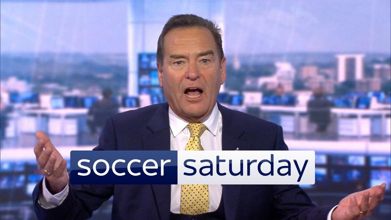 Jeff Stelling and the Soccer Saturday panel return on Saturday