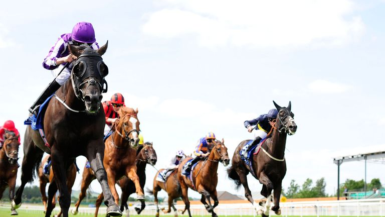 Spirit of Valor ridden by Ryan Moore win the Qatar Airways Minstrel Stakes