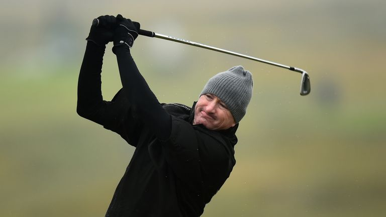 Four golfers tied for lead at Senior British Open