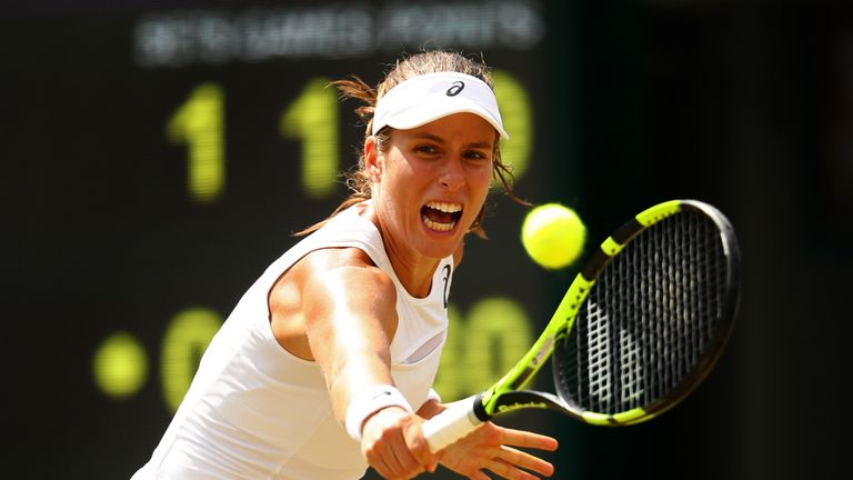 Johanna Konta edged out Caroline Garcia in a little over two hours