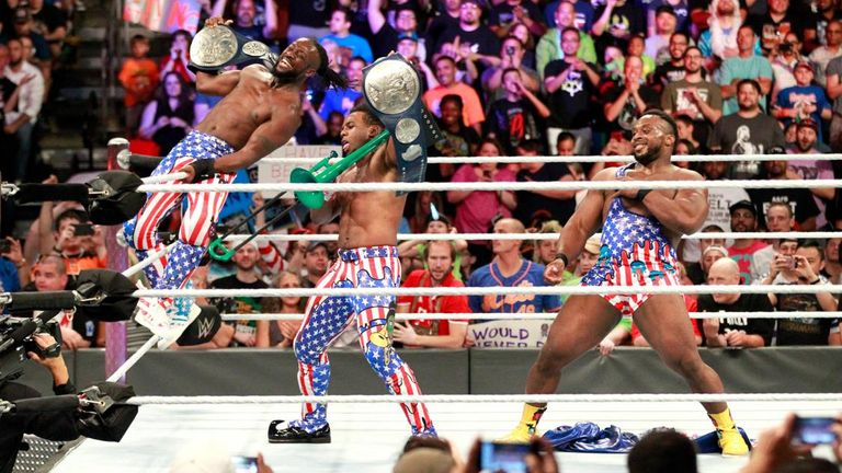 The New Day were involved in a great feud with the Usos in 2017