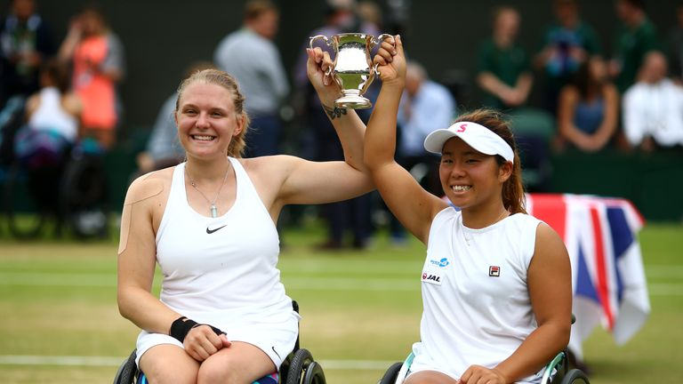 Jordanne Whiley won the Wimbledon women's wheelchair doubles with Yui Kamiji