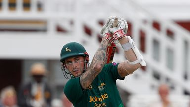 Alex Hales hit five boundaries and one six for Nottinghamshire