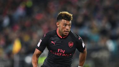 Chelsea target Alex Oxlade-Chamberlain is currently with the rest of the Arsenal squad in China