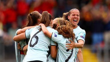 Belgium celebrate scoring against Norway
