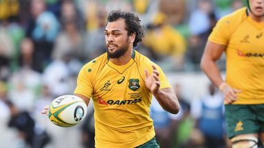 Karmichael Hunt in action for the Wallabies