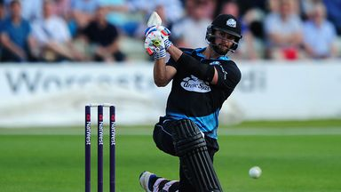 Ross Whiteley hammered six sixes in an over for Worcestershire - in a losing cause