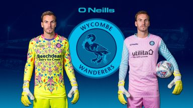 Wycombe Wanderers' new home and away goalkeeping kits