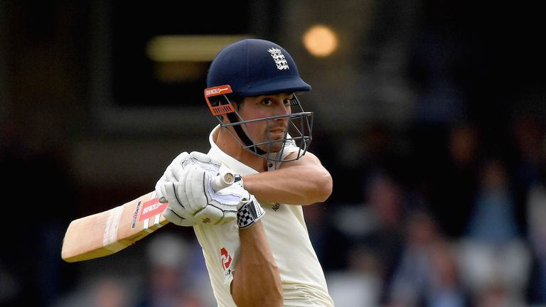 Alastair Cook of England plays a shot during Day One of the 3rd Investec Test match between England and South Africa at The Kia Oval