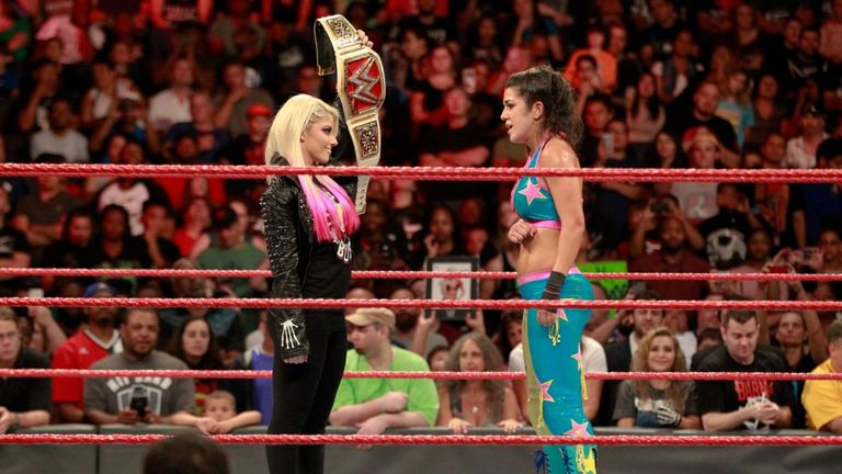 Alexa Bliss didn't wait long to confront her opponent for the RAW Women's Championship at SummerSlam.