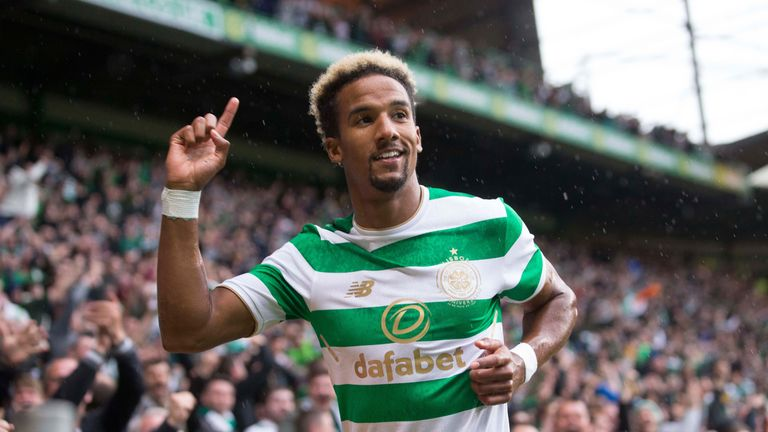 Celtic's Scott Sinclair celebrates scoring his side's first goal