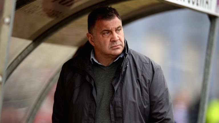 Wigan coach Shaun Wane during the First Utility Super League match between Hull KR and Wigan at Craven Park on March 1, 2015