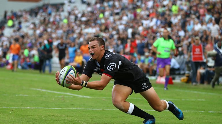 Curwin Bosch in action for the Sharks this year