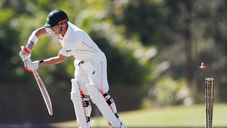 Warner was bowled by Hazelwood for four in the first innings.
