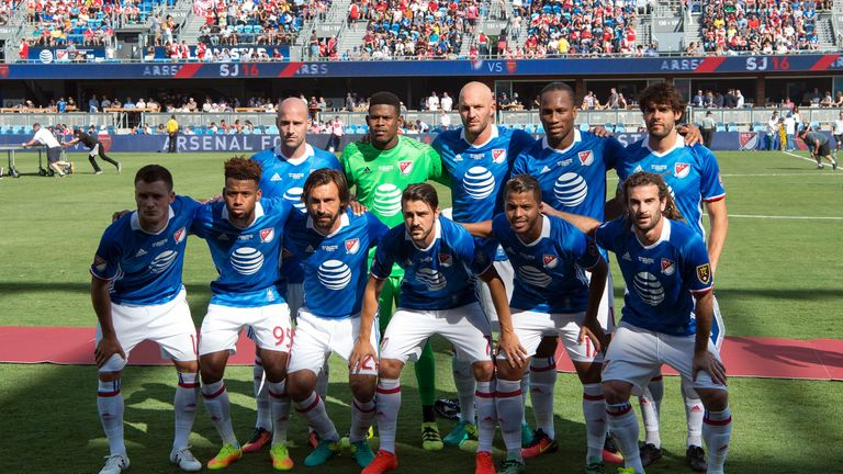 The 2016 MLS All-Stars, which featured Kaka, Didier Drogba and Andrea Pirlo, lost 2-1 to Arsenal in California