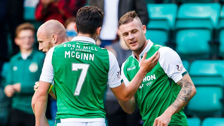 Anthony Stokes scored twice for Hibernian as they drew 2-2 with Motherwell
