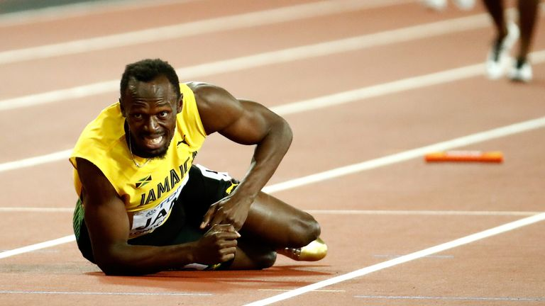 Usain Bolt pulled up during the final leg of the men's 4x100m relay final