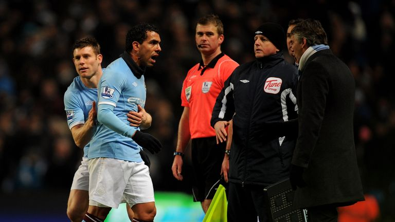 Tevez and Roberto Mancini had an up-and-down relationship