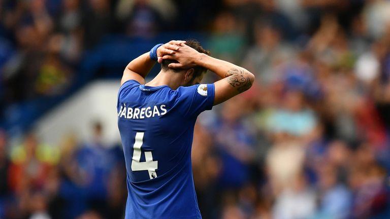 Cesc Fabregas will miss the Tottenham match through suspension