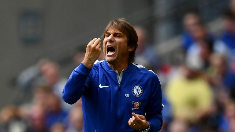Conte's Chelsea were beaten on penalties by Arsenal in the Community Shield on Sunday