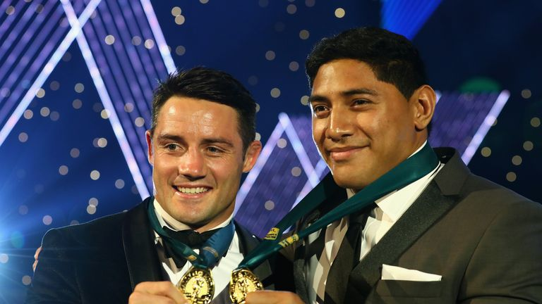 Cooper Cronk and Jason Taumalolo were named joint winners of the 2016 Dally M Medal